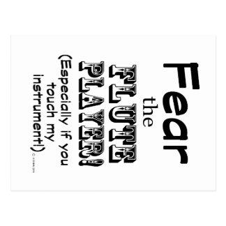 Tema o jogador de flauta cartão postal