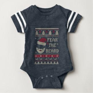 Tema o Natal feio da barba Body Para Bebê