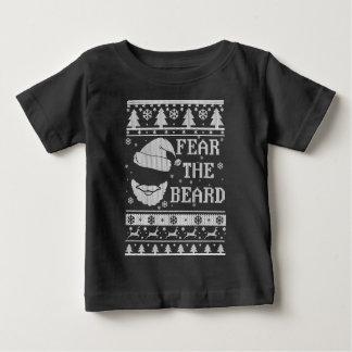 Tema o Natal feio da barba Camiseta Para Bebê