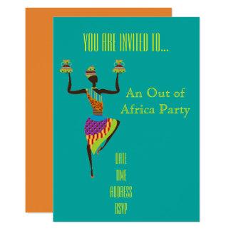 Temático africano fora do partido de África Convite 12.7 X 17.78cm