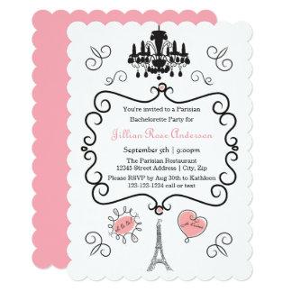 Temático parisiense - convite da festa de solteira