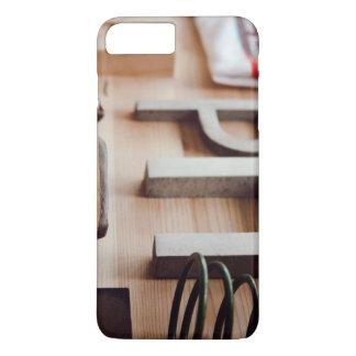 Temático variado, mesa com maca dos calçados, S Capa iPhone 7 Plus