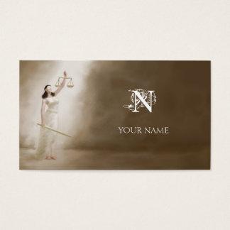 Temis e monograma cartão de visitas