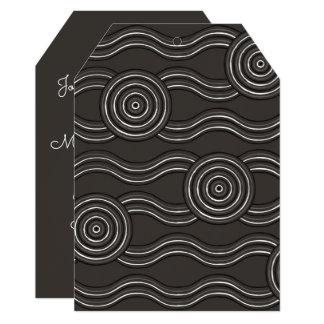 Tempestade aborígene da arte convite 12.7 x 17.78cm