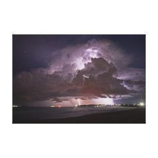 Tempestade da praia do verão