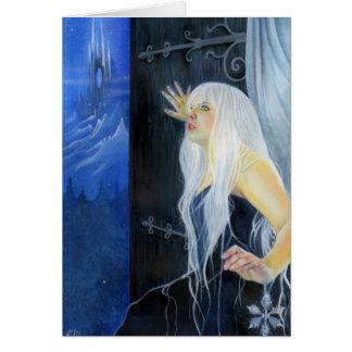 Tempestade do cartão da beleza do gelo da fantasia
