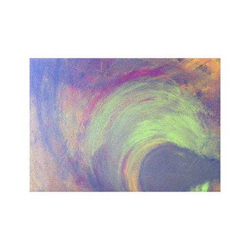 Tempestade estrangeira da alienígena da série da c impressão de canvas esticada