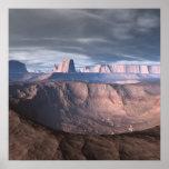 Tempestade no deserto da paisagem da alienígena do posters