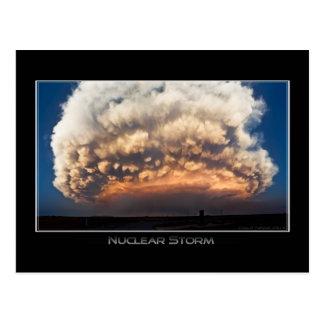 Tempestade nuclear cartão postal