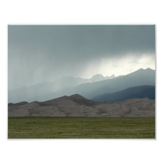 Tempestade sobre as grandes dunas de areia, Colora Foto Artes