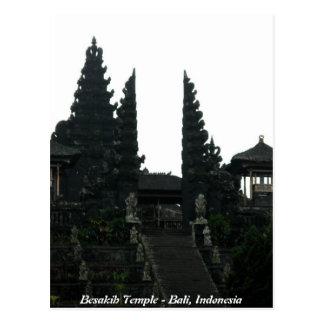 Templo Bali Indonésia de Besakih Cartão Postal