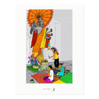 Templo budista Cambodia do cartão colorido