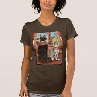 Templo da camisa da arte do gato da deusa da fibra