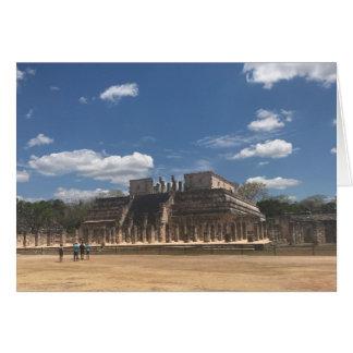 Templo de Chichen Itza do cartão dos guerreiros