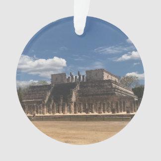 Templo de Chichen Itza do ornamento dos guerreiros