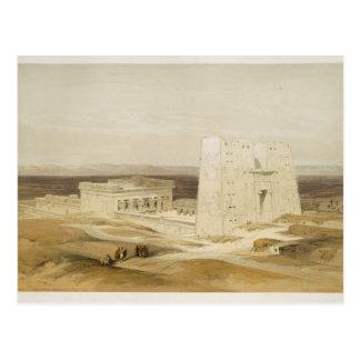 Templo de Edfu, Apollinopolis antigo, Egipto super Cartão Postal