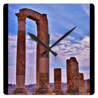 Templo de Hercules Relógio Quadrado