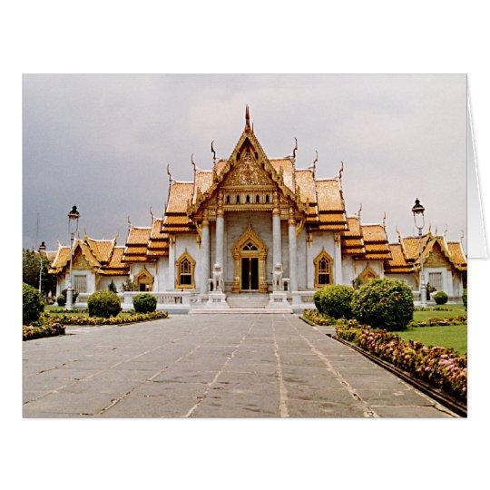 Templo de mármore do ouro com citações de Buddha Cartão Comemorativo Grande