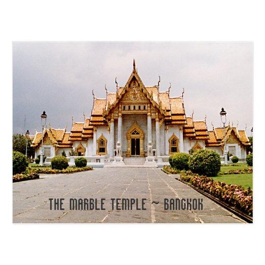 Templo de mármore do ouro sobre o cartão de cartão postal