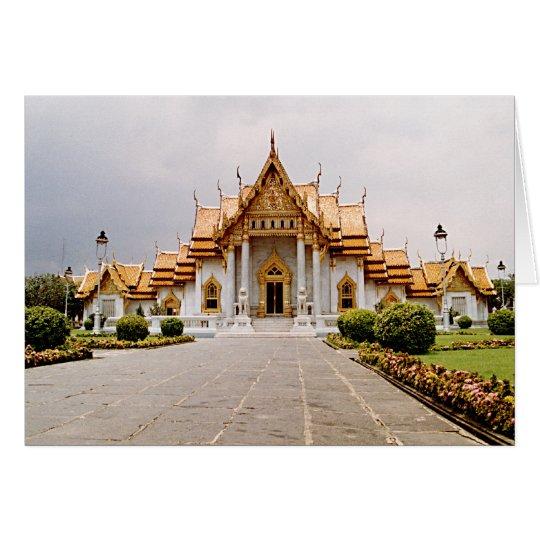 Templo de mármore do ouro sobre o cartão do leão