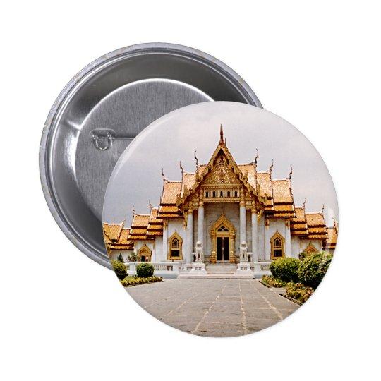 Templo de mármore do ouro sobre o Tag do botão do Bóton Redondo 5.08cm
