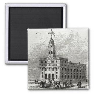 Templo de Mormon em Salt Lake, 1854 Ímã Quadrado