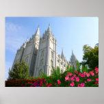 Templo de Mormon Posteres