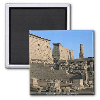 Templo deserto de Luxor, Luxor, Egipto Ímã Quadrado