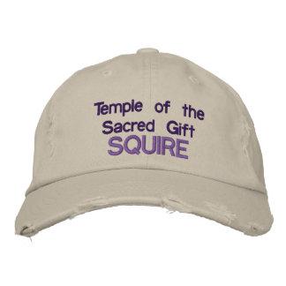 Templo do boné sagrado da bola do presente