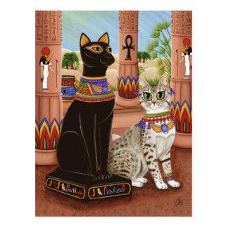 Templo do cartão do gato da deusa da fibra de