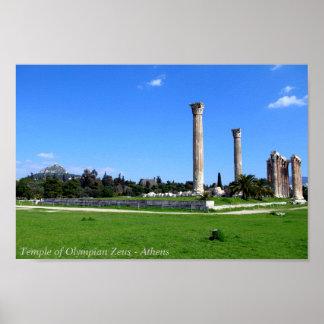 Templo do olímpico Zeus - Atenas Poster