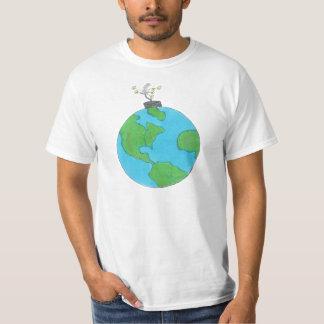Tempo acima! camiseta