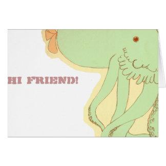 """Tempo da barriga: Peter, """"olá! amigo!"""" cartão"""