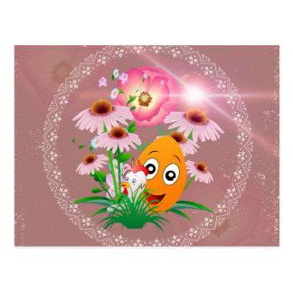 Tempo da páscoa, ovo da páscoa engraçado cartão postal