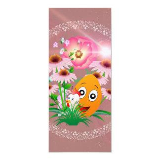 Tempo da páscoa, ovo da páscoa engraçado convite 10.16 x 23.49cm