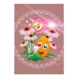Tempo da páscoa, ovo da páscoa engraçado convite 8.89 x 12.7cm