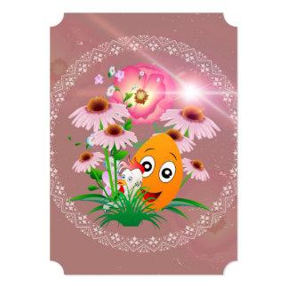 Tempo da páscoa, ovo da páscoa engraçado convite 12.7 x 17.78cm