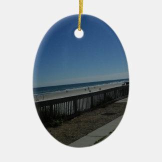 Tempo da praia ornamento de cerâmica