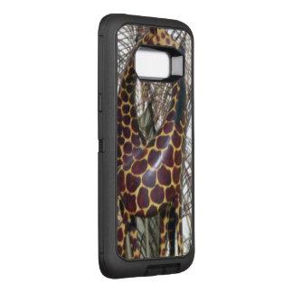 Tempo de alimentação do girafa impressão animal capa OtterBox defender para samsung galaxy s8+