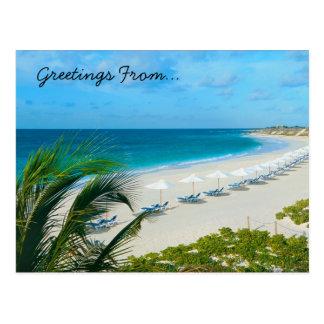 Tempo de férias cartão postal