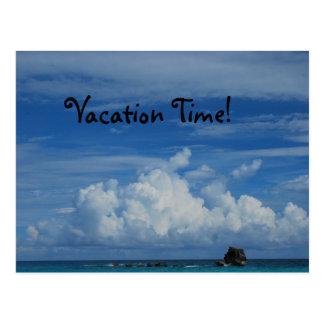 Tempo de férias com vista para o mar cartão postal