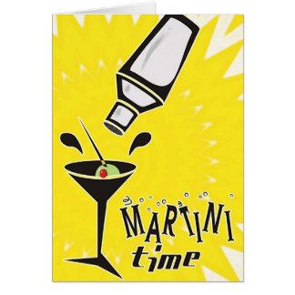 Tempo de Martini (o cartão vazio/personaliza)