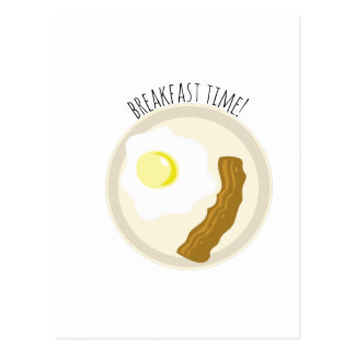 Tempo de pequeno almoço! cartoes postais