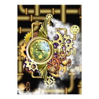 Tempo de Steampunk Convite 12.27 X 17.78cm