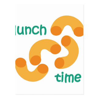 Tempo do almoço cartão postal
