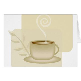 Tempo do café cartão de nota