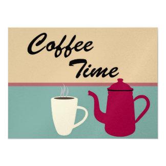 Tempo do café convite personalizado