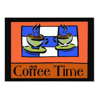 Tempo do café convite 12.7 x 17.78cm