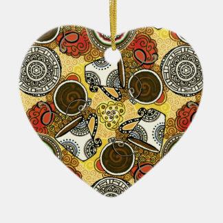Tempo do café ornamento de cerâmica