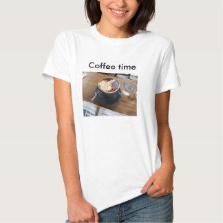 Tempo do café t-shirt